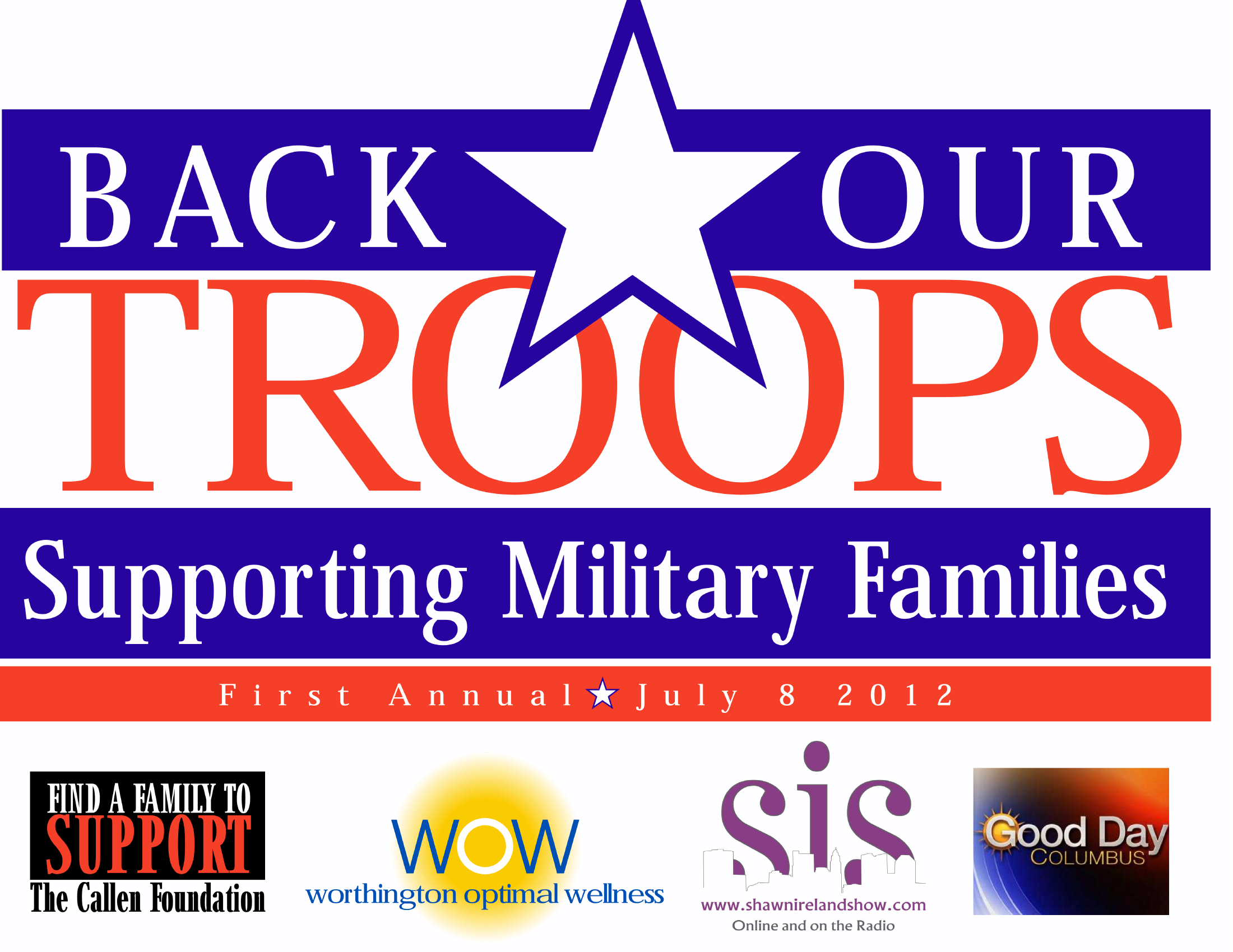 Back Our Troops Logo For Sign
