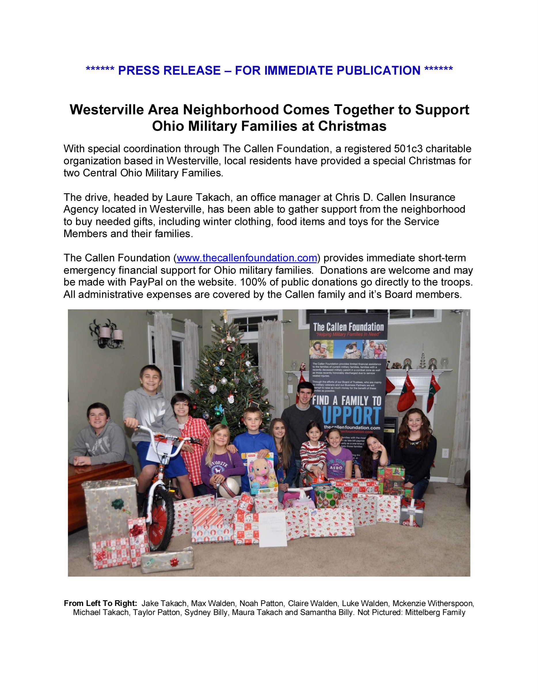 PRESS RELEASE - Westerville News - 12-16-13. VER 2